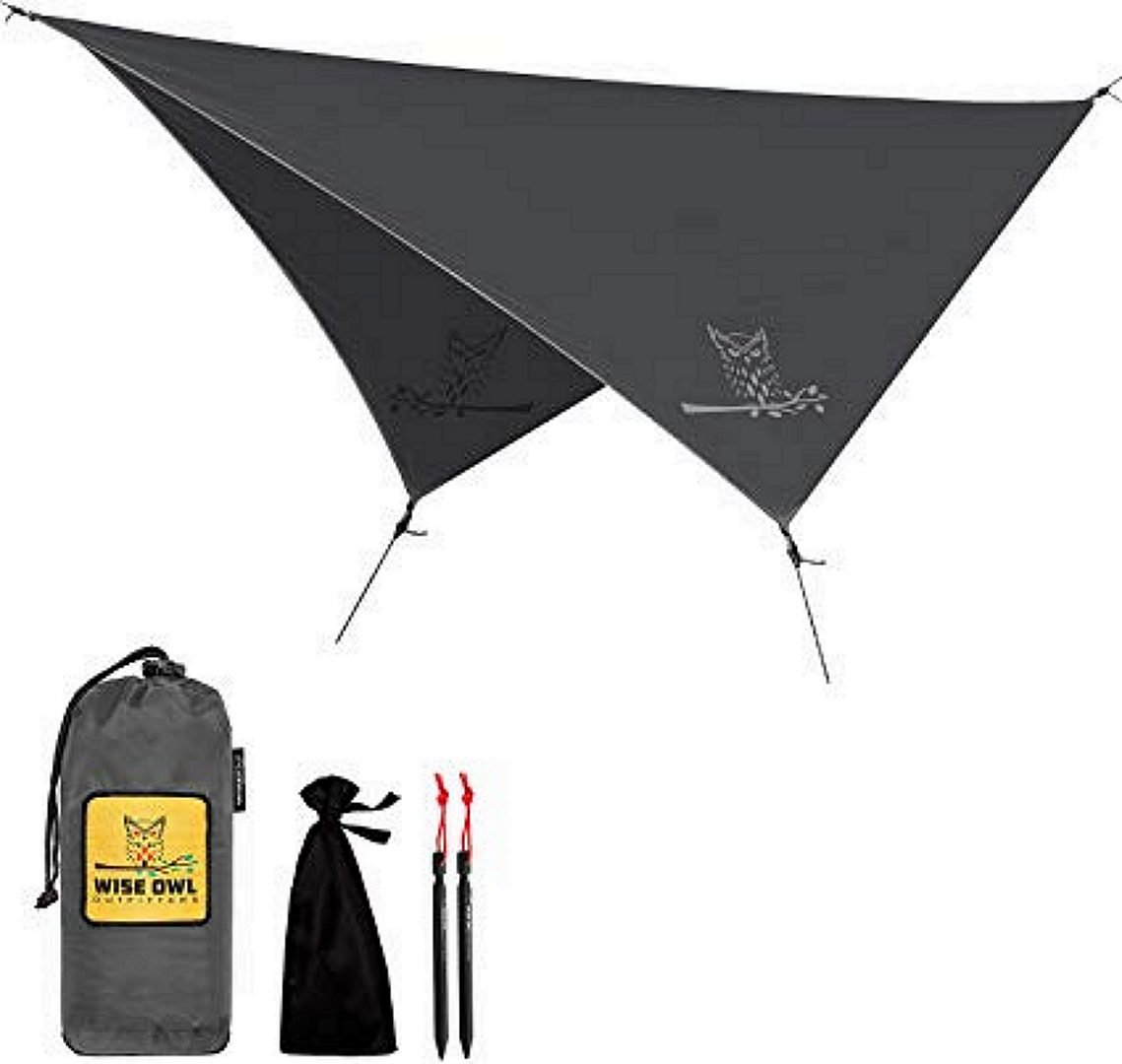 Wise Owl Outfitters Hammock Rain Fly, Black
