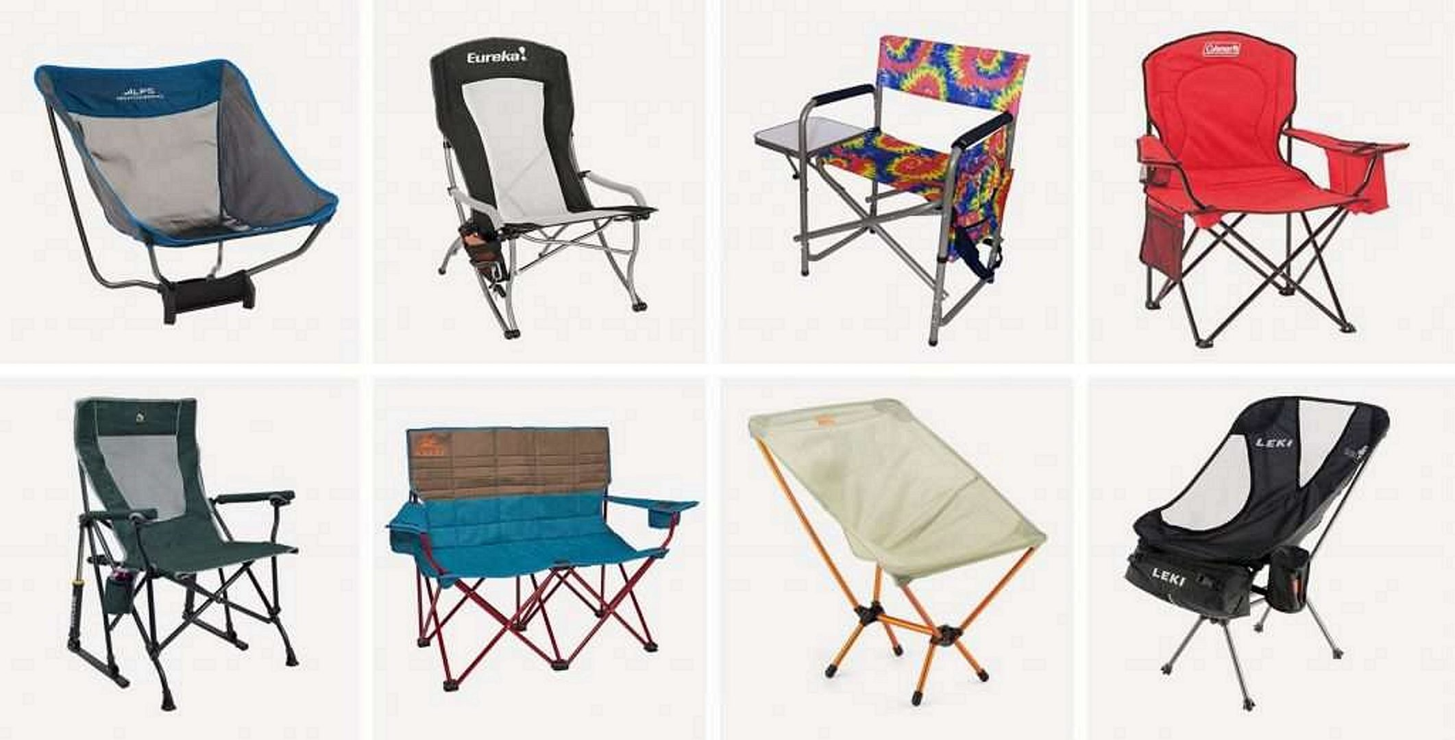 Types and shapes of camping chairs