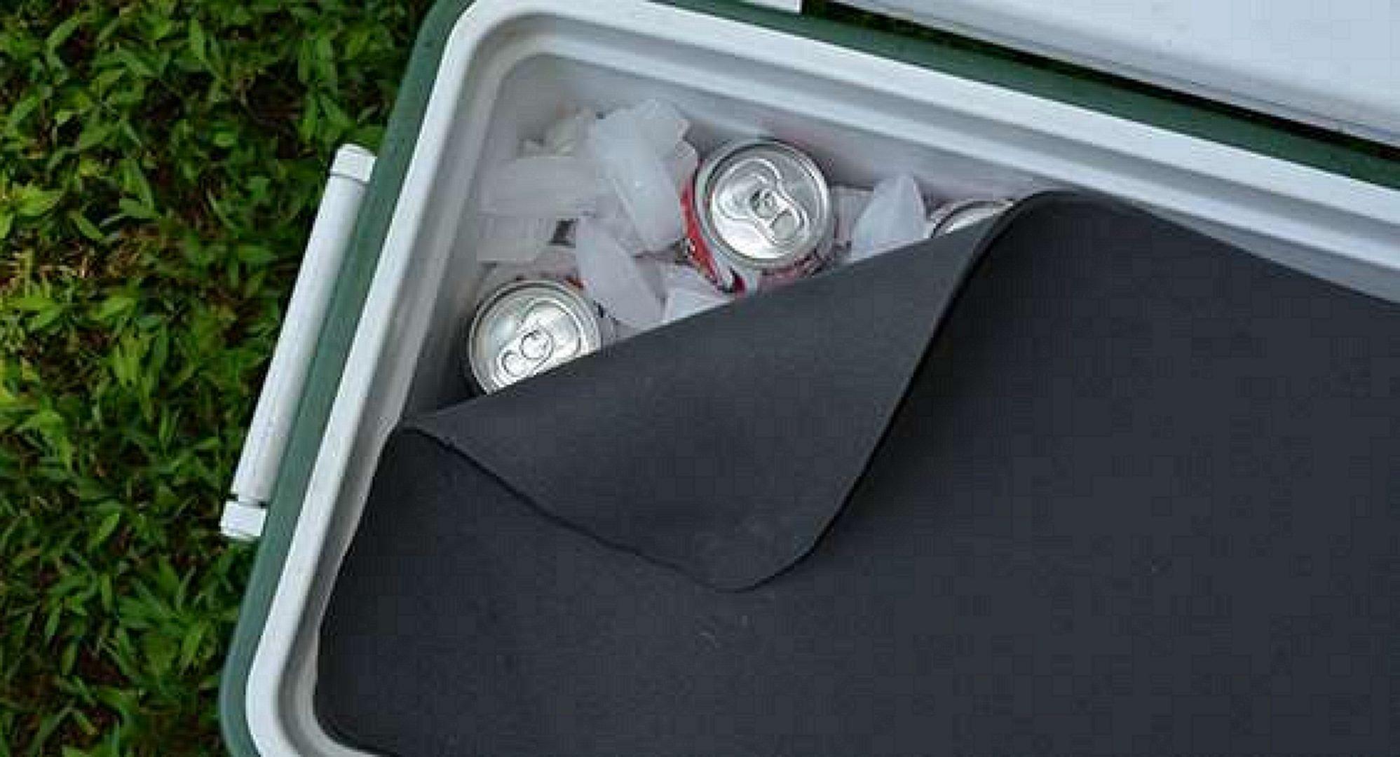 open cooler covered for a better inculation