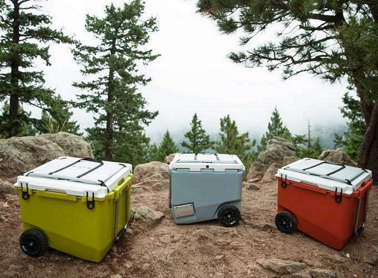 3 Coolers on a hill