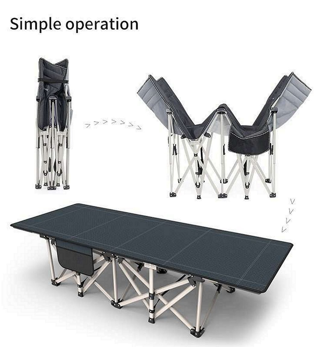 Camping Cot Unfolding Process