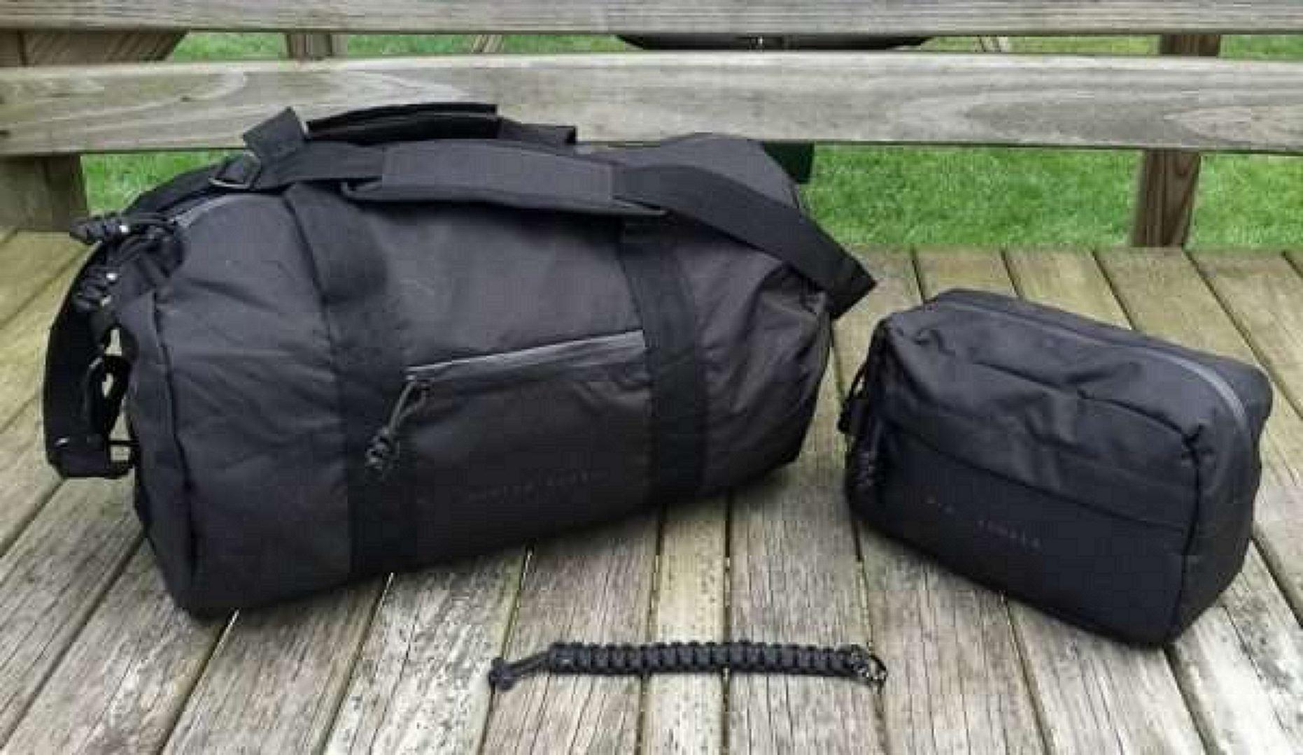 Two duffel bags, Black