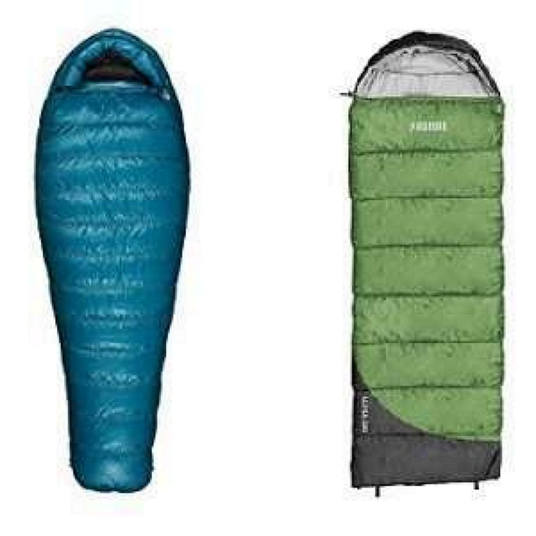 Comparison of Mummy and Rectangular Sleeping Bag Shapes