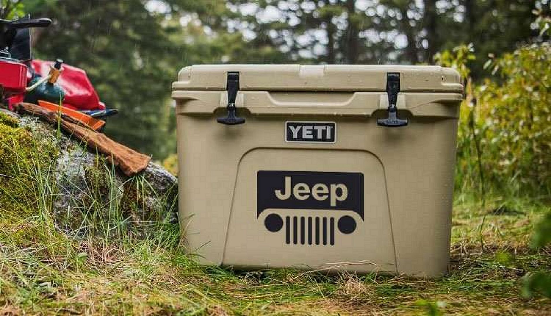 YETI Cooler with Jeep Logo
