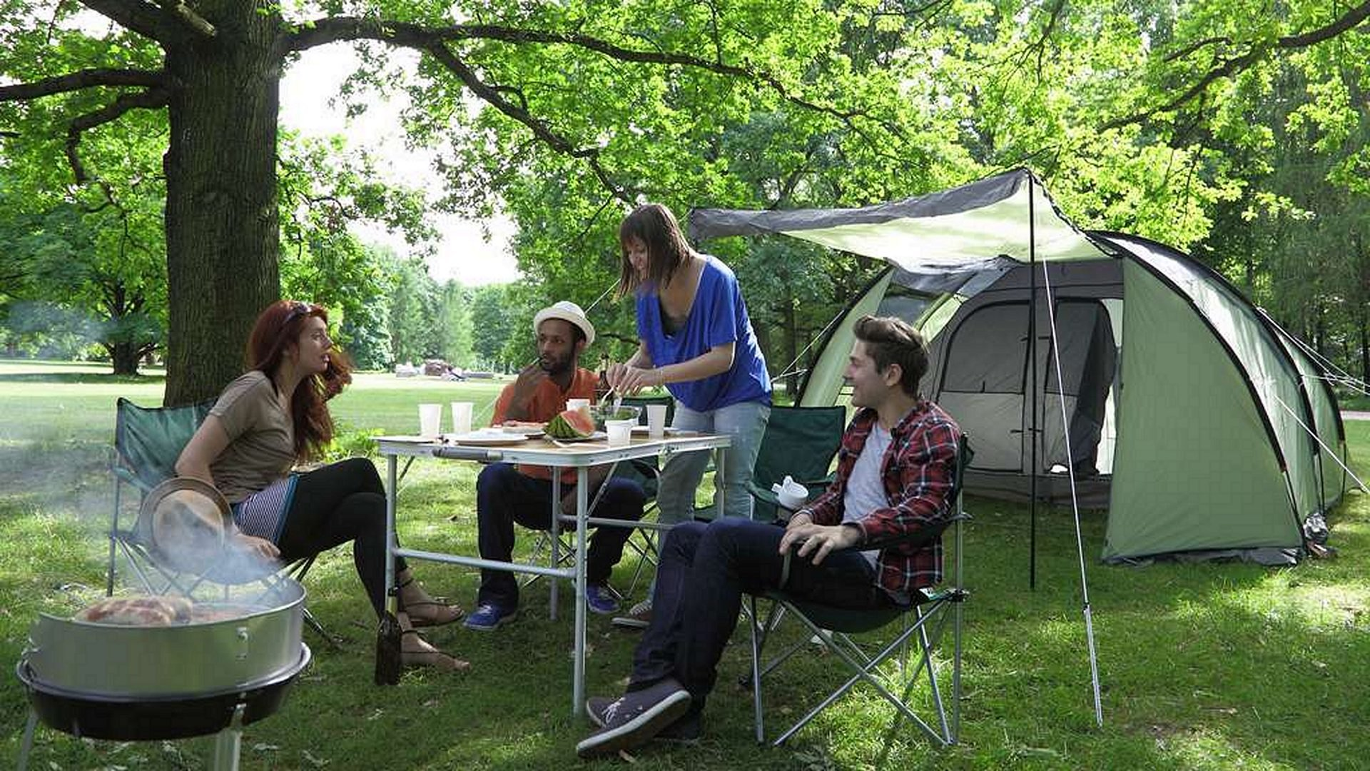 people at the table for camping Best Folding Camping Table